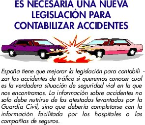 Legislar accidentes